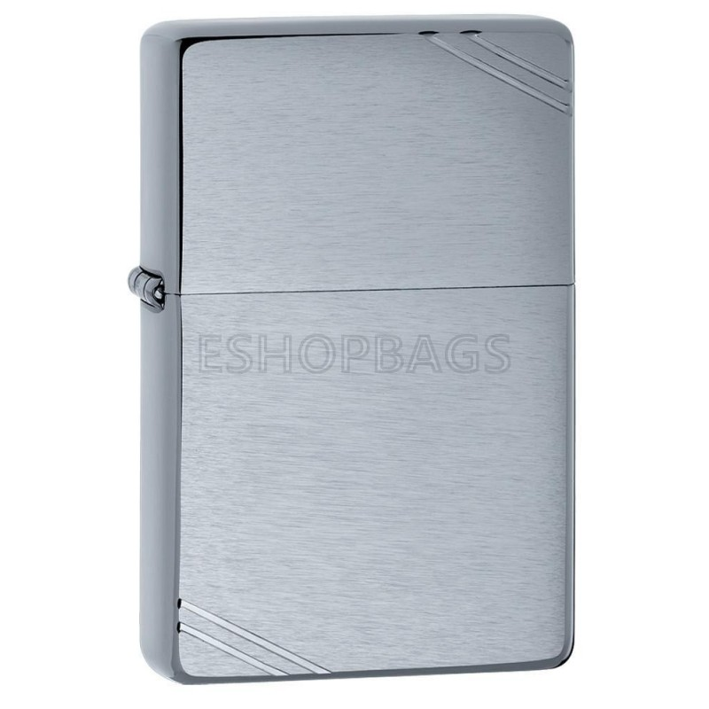 ΑΝΑΠΤΗΡΑΣ ΓΝΗΣΙΟΣ ZIPPO Brushed Chrome Vintage with Slashes TSA.101.03.24.009 230