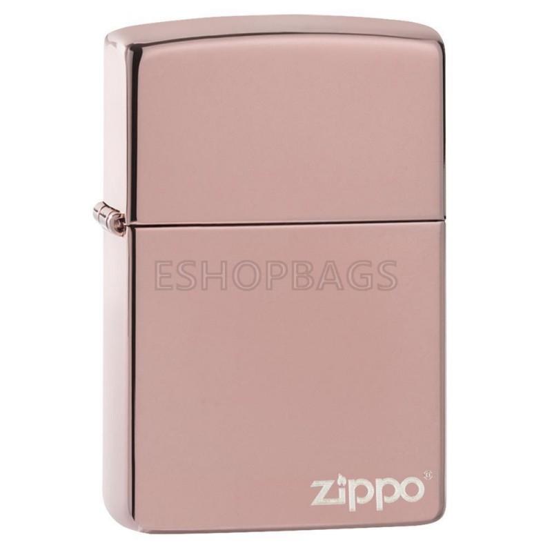 ΑΝΑΠΤΗΡΑΣ ΓΝΗΣΙΟΣ ZIPPO Classic High Polish Rose Gold Zippo Logo TSA.101.03.24.022 49190ZL