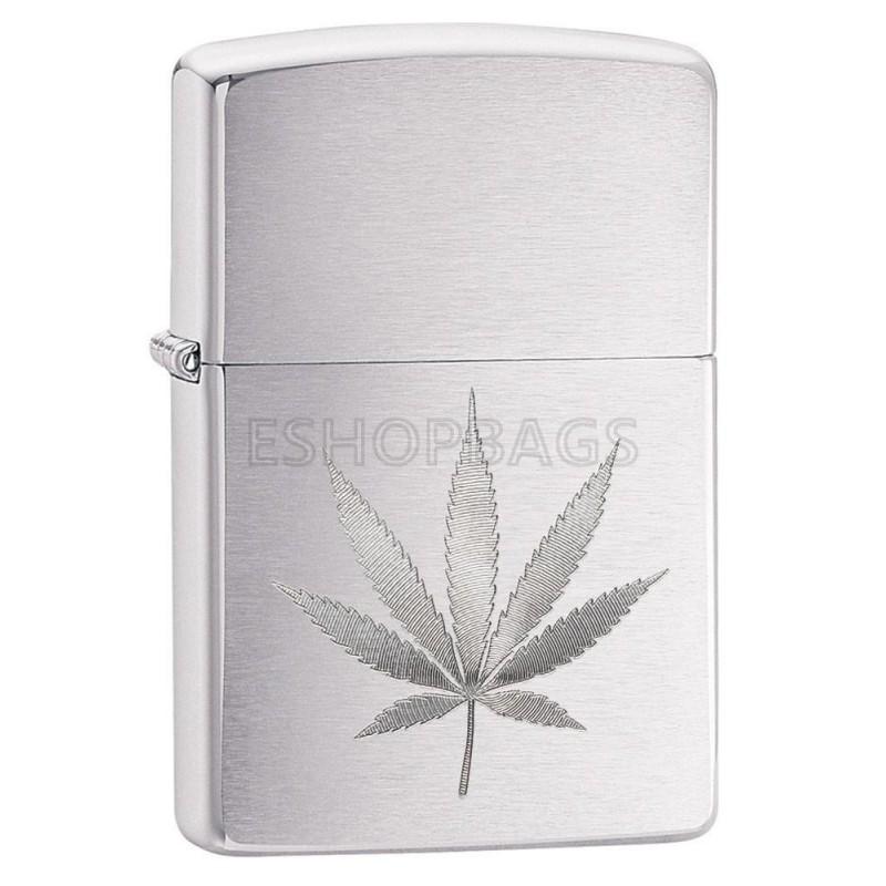 ΑΝΑΠΤΗΡΑΣ ΓΝΗΣΙΟΣ ZIPPO Chrome Marijuana Leaf Design TSA.101.03.24.031 29587