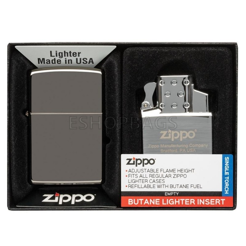 ΑΝΑΠΤΗΡΑΣ ΓΝΗΣΙΟΣ ZIPPO Lighter & Single Butane Insert Gift Set TSA.101.03.24.048 49103