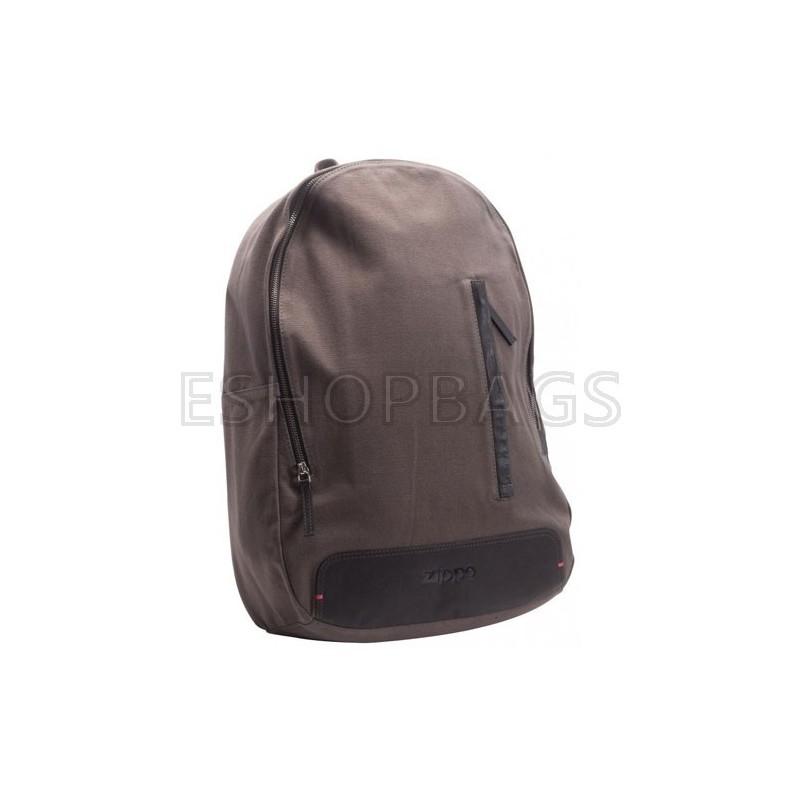 ΑΝΔΡΙΚΗ ΤΣΑΝΤΑ ΠΛΑΤΗΣ Leather & Canvas Backpack Zippo ΚΑΦΕ TSA.101.03.07.019 2005575