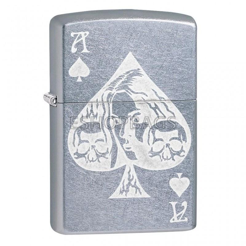ΑΝΑΠΤΗΡΑΣ ΓΝΗΣΙΟΣ ZIPPO USA Ace Of Spades Goth TSA.101.03.24.068 49113