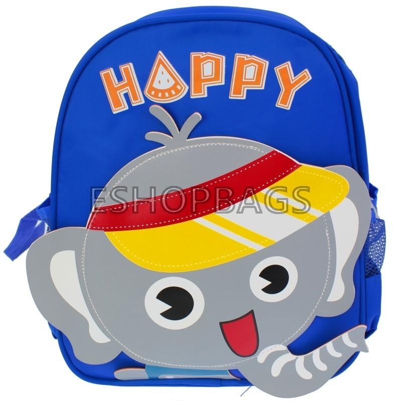ΠΑΙΔΙΚΗ ΤΣΑΝΤΑ ΠΛΑΤΗΣ – ΧΕΙΡΟΣ HAPPY ELEPHANT DUMBO 25*10*31,5 ΣΚΟΥΡΟ ΜΠΛΕ TSA.101.04.099 605CHILD