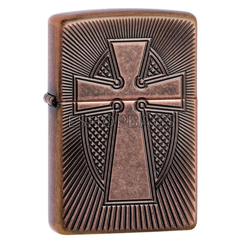 ΑΝΑΠΤΗΡΑΣ ΓΝΗΣΙΟΣ ZIPPO USA Armor® Deep Carve Cross Design TSA.101.03.24.084 49158