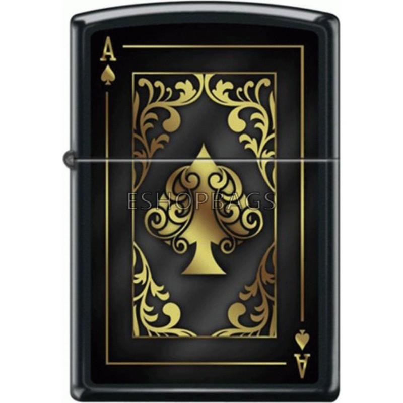ΑΝΑΠΤΗΡΑΣ ΓΝΗΣΙΟΣ ZIPPO USA Ornate Ace Of Spades Design TSA.101.03.24.106 218-76716