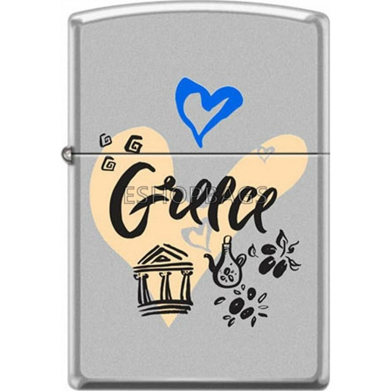 ΑΝΑΠΤΗΡΑΣ ΓΝΗΣΙΟΣ ZIPPO USA Greece With Heart TSA.101.03.24.109 205-071162