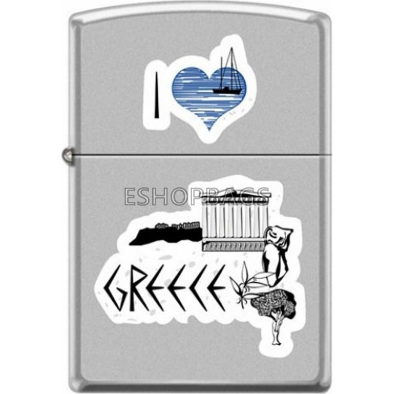ΑΝΑΠΤΗΡΑΣ ΓΝΗΣΙΟΣ ZIPPO USA I Love Greece TSA.101.03.24.110 205-071168