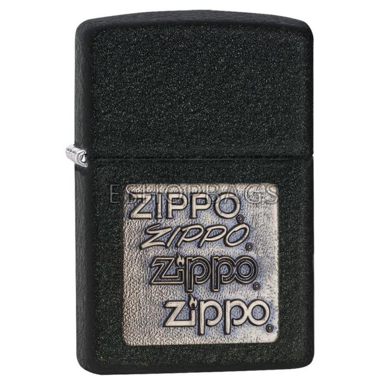 ΑΝΑΠΤΗΡΑΣ ΓΝΗΣΙΟΣ ZIPPO USA Black Crackle Gold Zippo Logo TSA.101.03.24.113 362